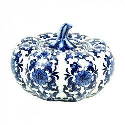Abóbora de Porcelana azul e branco