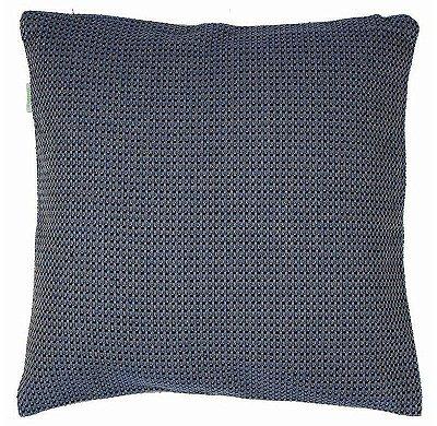 Capa de Almofada Azul Xadrez Texturizada ecossustentável 45x45 cm