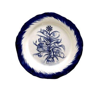 Prato De Natal Blue Tree(raso)