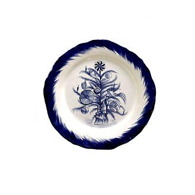 Prato sobremesa Árvore de Natal Blue
