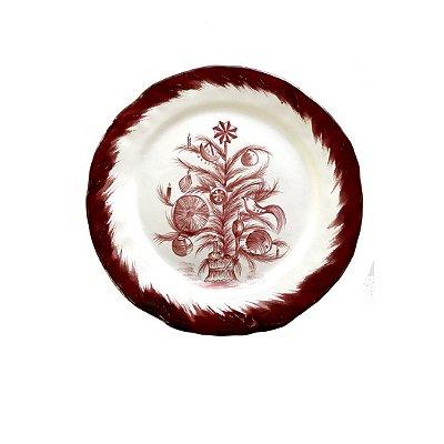 Prato raso e sobremesa Árvore de Natal Bordeaux (duo)