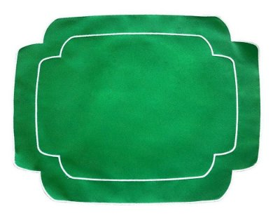 Jogo Americano Retangular Verde