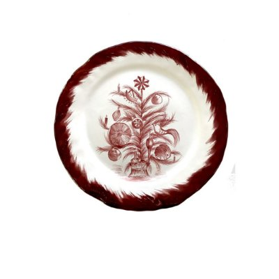 Prato sobremesa Árvore de Natal Bordeaux