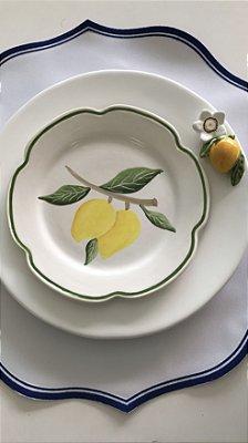 Pratos Limão Siciliano (raso+sobremesa)