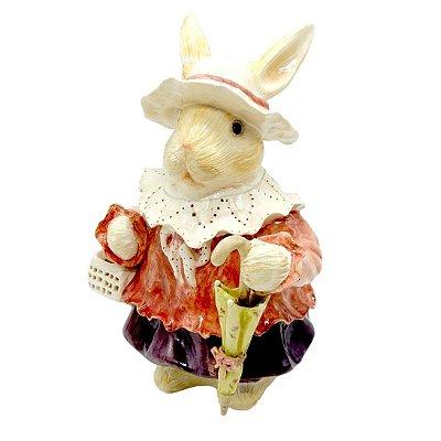 Coelha de cerâmica com Guarda Chuva Zanatta Casa
