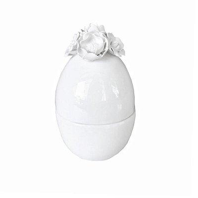 Ovo de cerâmica com Flores