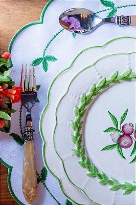 Duo de Pratos Hera com Romãs (raso+sobremesa)