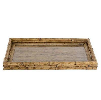 Bandeja Bambu com vidro M