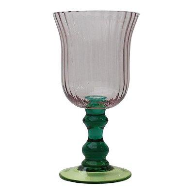 Taça Verde Azul e Lilás (cj com 6)