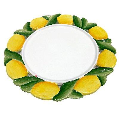 Prato raso/ sousplat com Borda de Limão Siciliano