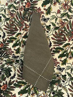 Toalha Floresta 3m com 8 guardanapos caqui