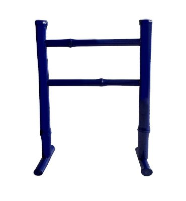 Porta Toalha de Bambu Azul Escuro