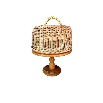 Boleira de madeira com cobre de Junco e Bambu