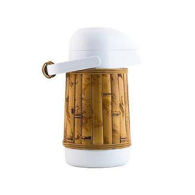 Garrafa Térmica Revestida de Bambu Natural P