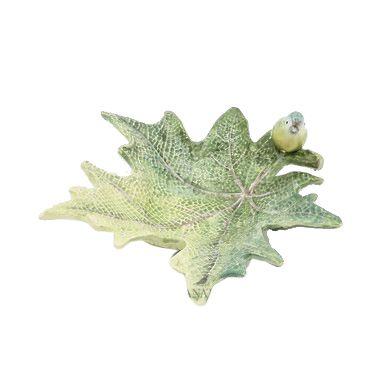 Petisqueira folha de uva com passarinho