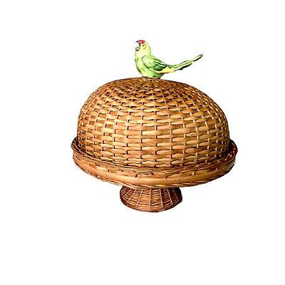 Boleira de Vime com Pé Natural Papagaio