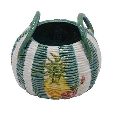 Vaso Cestinha de Abacaxi