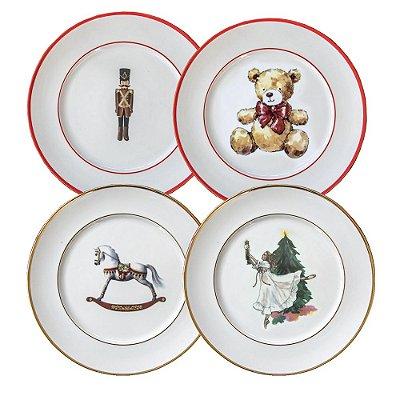 Coleção Quebra Nozes (4 pratos rasos)