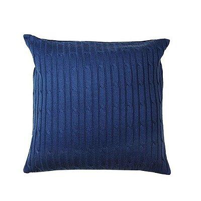 Capa de Almofada Tricot azul marinho 45x45 cm