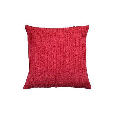 Capa de Almofada de Tricot Vermelha 45x45 cm