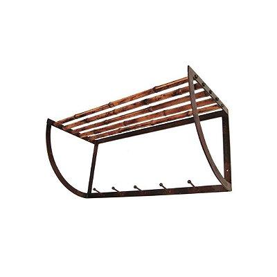 Cabideiro de Bambu e Ferro