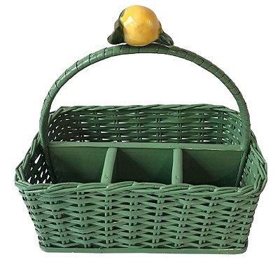 Porta Talher de Vime Limão Siciliano