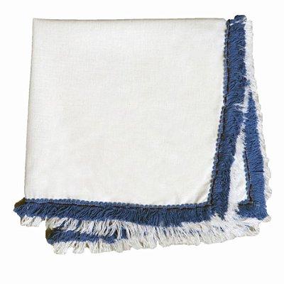 Guardanapo Branco com Franja Azul (jogo com 6)