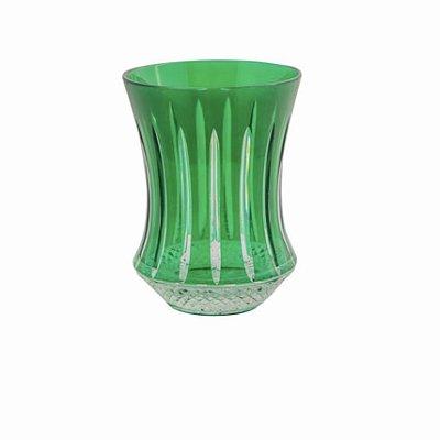 Copo Cristal Verde Polonês
