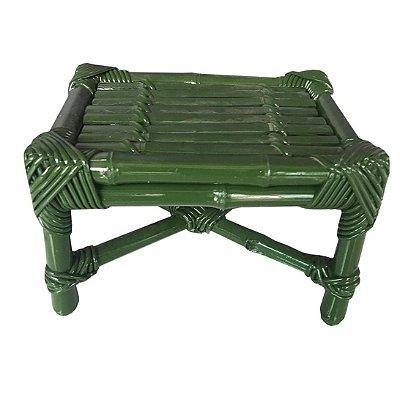 Banqueta de Bambu M Verde Escura