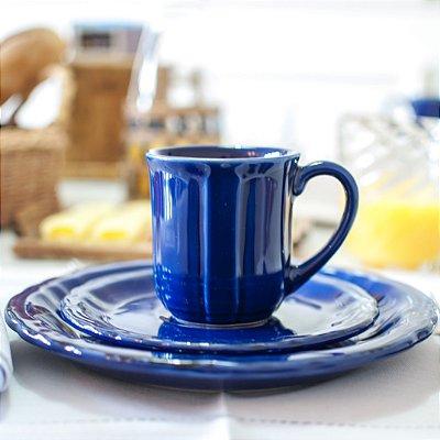 Xícara Chá e Prato Sobremesa Carbono (jogo com 6)