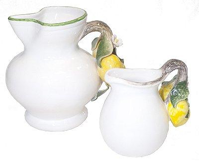 Jarras de cerâmica Limão Siciliano Zanatta Casa (par)