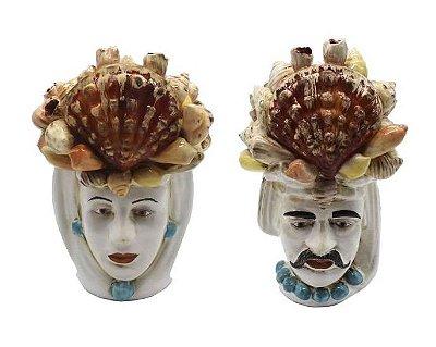 Cabeça Moura Coral (casal) Zanatta Casa
