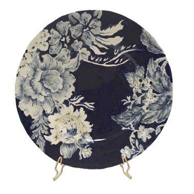 Prato Raso Flores Azuis (cj com 6)