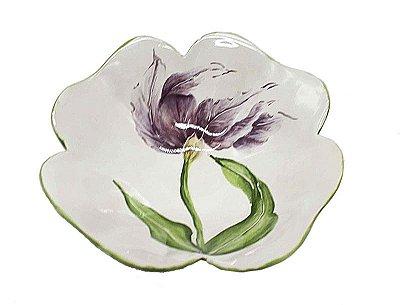 Bowl desenho tulipa violeta Zanatta Casa