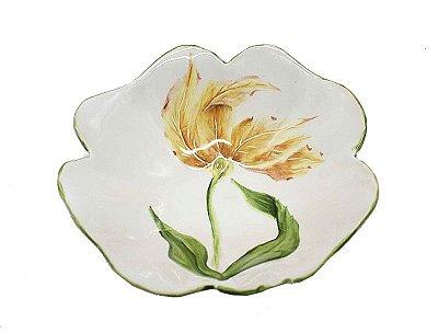 Bowl desenho tulipa laranja Zanatta Casa