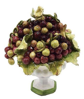 Mini fruteira de cerâmica uvas Zanatta Casa