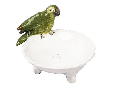 Saboneteira cerâmica com Periquito Zanatta Casa