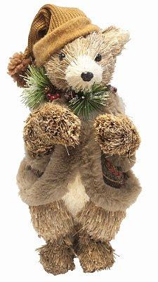 Urso Roupa de Veludo de Natal