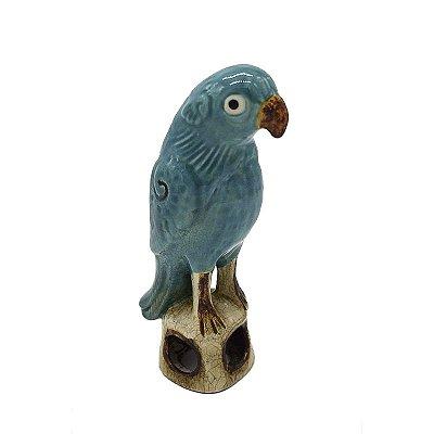 Pássaro de cerâmica Cia Das Índias Acqua Zanatta Casa
