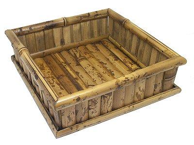 Porta Guardanapo de Bambu G para Guardanapo Papel