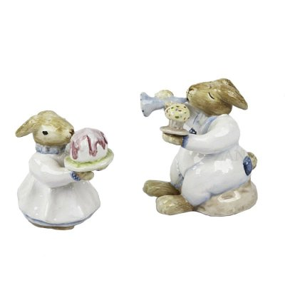Mini Saleiro e Pimenteiro Coelhos de cerâmica Zanatta Casa