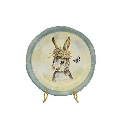 Prato de Sobremesa Aquarelado Coelha