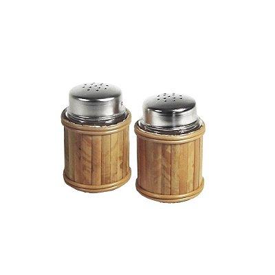 Saleiro e Pimenteiro de Bambu