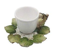 Xícara de Chá Folha de Uvas (4 unidades)