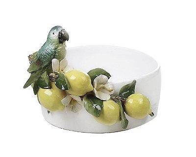 Cachepot de Limão e Pássaro