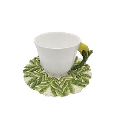 Xícara de Chá Limão Siciliano Zanatta Casa (cj com 2)