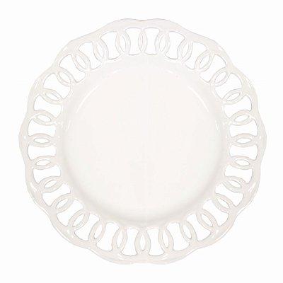 Prato Branco Borda Vazada (raso)
