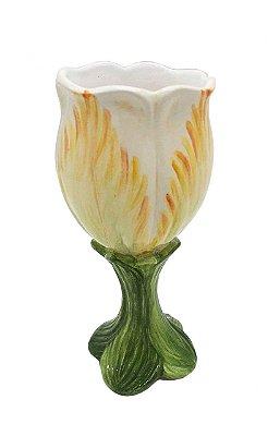 Taça de cerâmica Tulipa Amarela Zanatta Casa