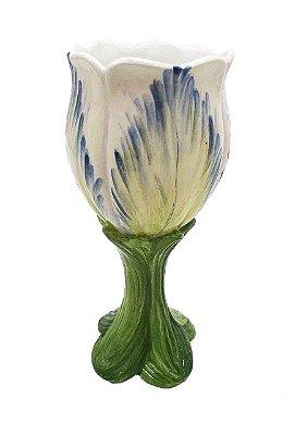Taça de cerâmica Tulipa Azul Zanatta Casa