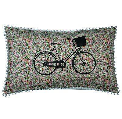 Capa de Almofada bicicleta Flores 31x50 cm